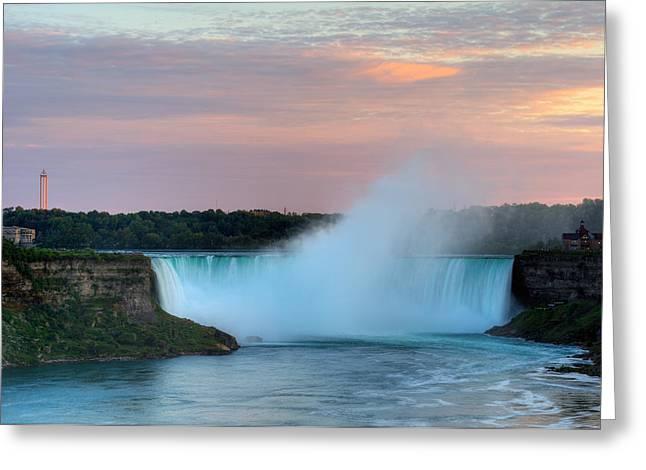 Niagara Falls Greeting Card by Marek Poplawski