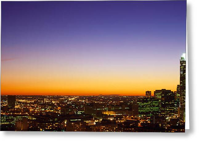 Night Chicago Il Usa Greeting Card by Panoramic Images