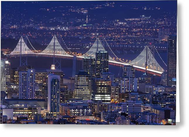 Night Colors - San Francisco Greeting Card