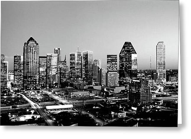 Night, Dallas, Texas, Usa Greeting Card by Panoramic Images