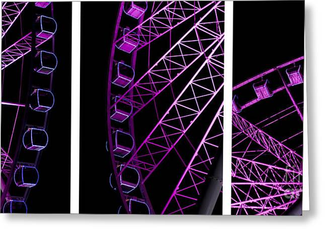 Night Ferris Wheel Greeting Card