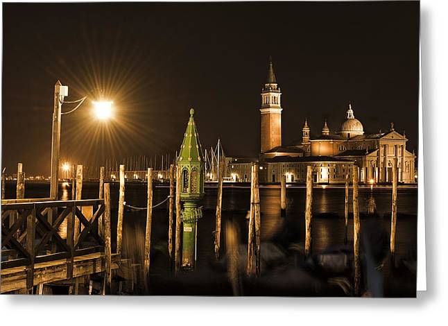 Greeting Card featuring the photograph Night Lights by Marion Galt