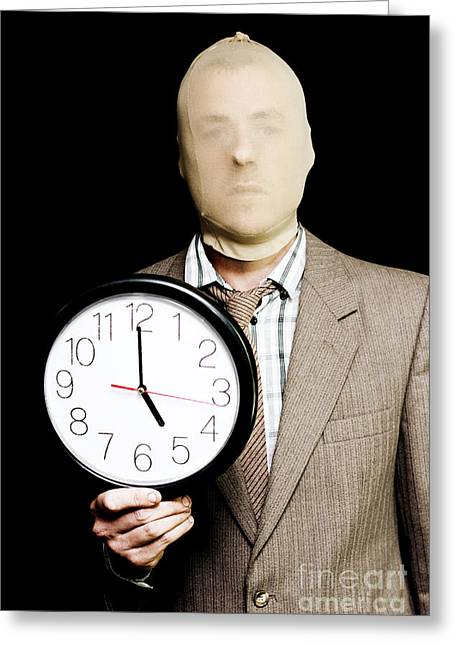 Night Time Is Prime Time For Crime Time Greeting Card