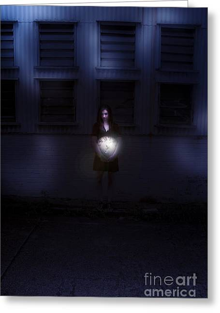 Night Time Greeting Card by Jorgo Photography - Wall Art Gallery