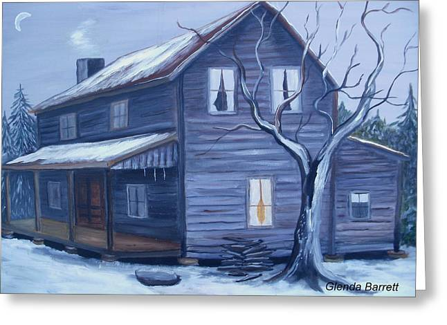 Nightfall Greeting Card by Glenda Barrett