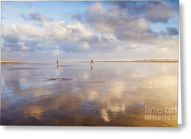 Ninety Mile Beach Northland New Zealand Greeting Card by Colin and Linda McKie