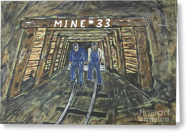 No Windows Down There In The Coal Mine .  Greeting Card by Jeffrey Koss