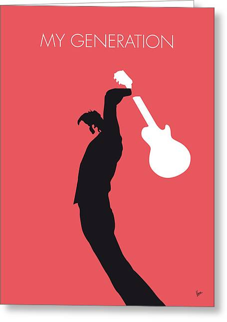 No002 My The Who Minimal Music Poster Greeting Card