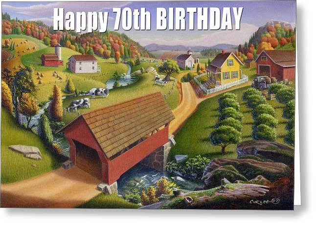 no1 Happy 70th Birthday Greeting Card by Walt Curlee