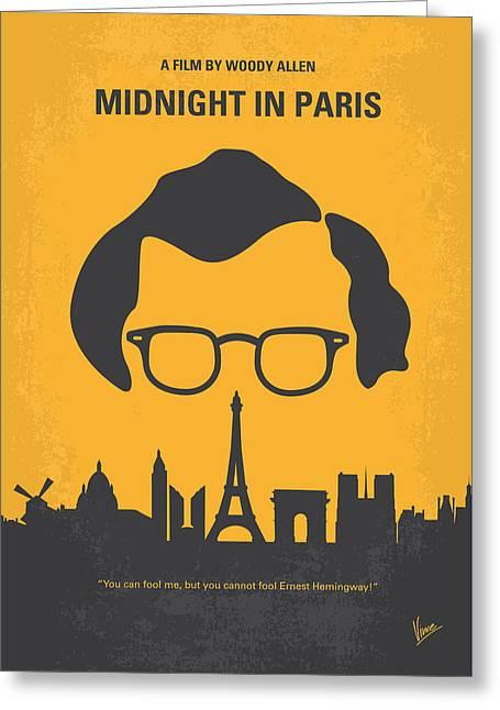 No312 My Manhattan Minimal Movie Poster Greeting Card