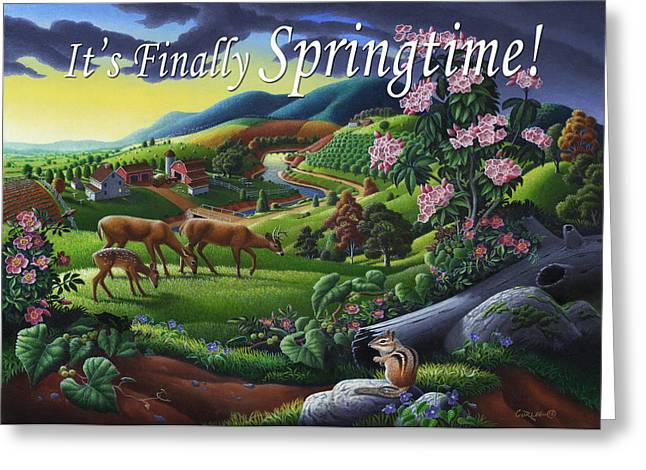no20 Its Finally Springtime Greeting Card by Walt Curlee