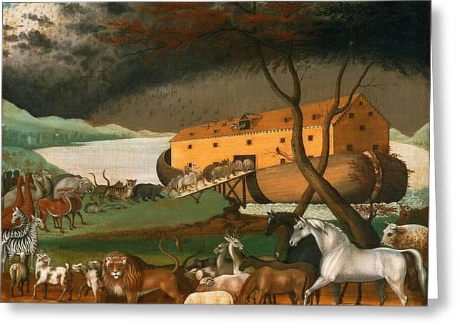 Noahs Ark Greeting Card by Edward Hicks
