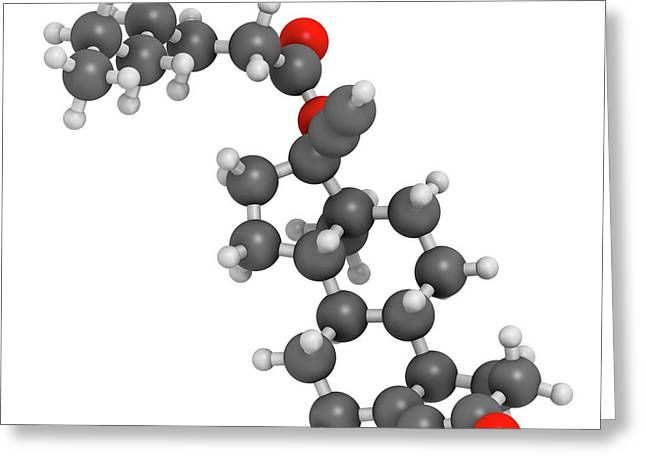 Norethisterone Enanthate Drug Molecule Greeting Card by Molekuul