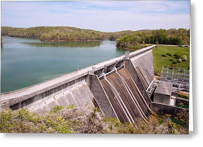 Norris Dam And Reservoir Greeting Card by Jim West