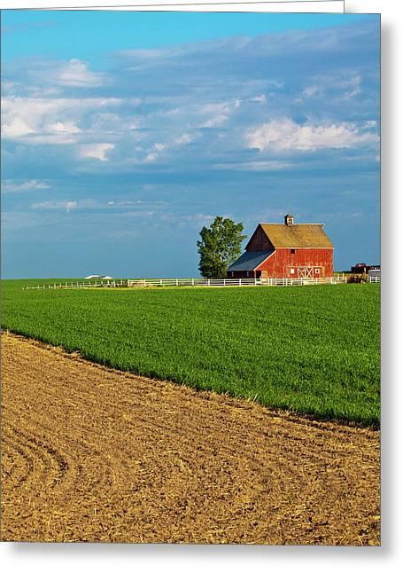 North America Usa Washington Red Barn Greeting Card by Terry Eggers
