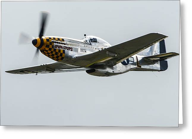North American P-51d Mustang Greeting Card by Puget  Exposure