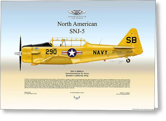 North American Snj-5 Greeting Card