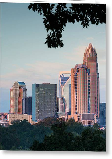 North Carolina, Charlotte, Elevated Greeting Card by Walter Bibikow