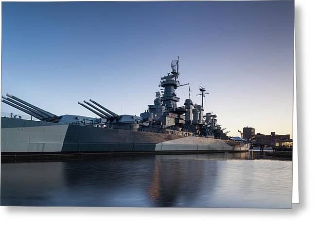North Carolina, Wilmington, Battleship Greeting Card