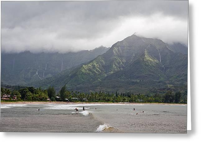North Shore Kauai Greeting Card by Lannie Boesiger