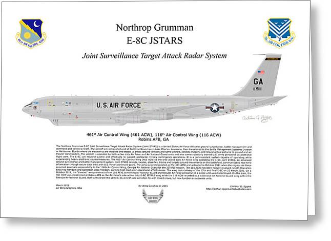 Northrop Grumman E-8c Jstars Greeting Card