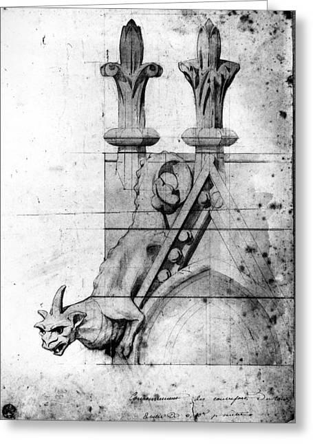 Notre Dame Gargoyle Greeting Card by Granger