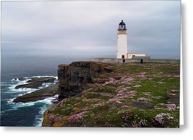 Noup Head Lighthouse Greeting Card by Steve Watson