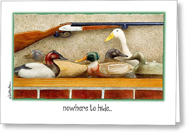 Nowhere To Hide... Greeting Card