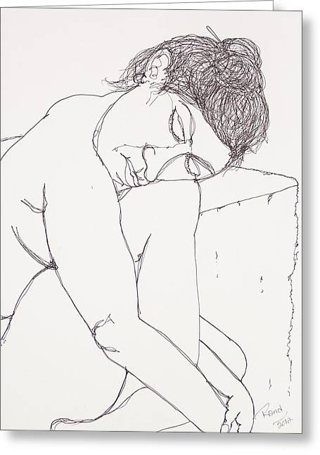 Nude At Rest Greeting Card