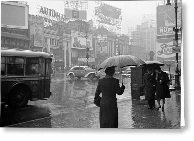 Nyc, Times Square, 1943 Greeting Card by Science Source
