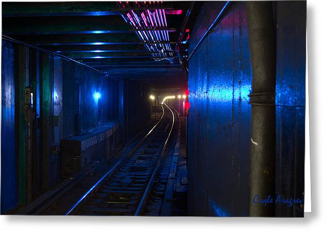 Nyc Underground Colors Greeting Card by Coqle Aragrev