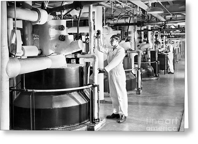 Nylon Production, 1950s Greeting Card by Hagley Archive