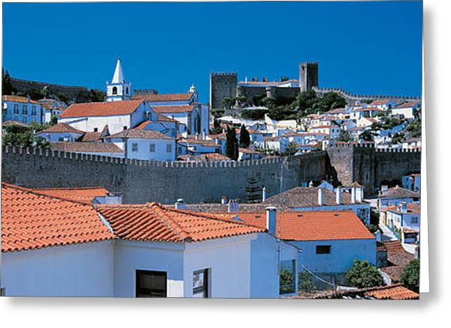 Obidos Portugal Greeting Card by Panoramic Images