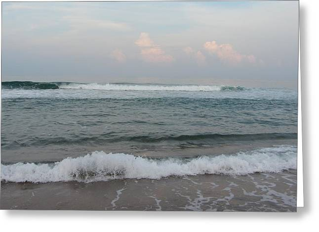 Greeting Card featuring the photograph Ocean At Buxton Nc 2 by Cathy Lindsey
