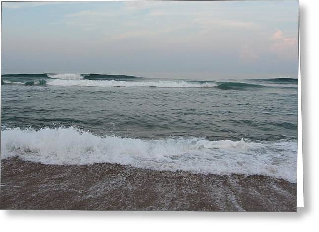 Greeting Card featuring the photograph Ocean At Buxton Nc 7 by Cathy Lindsey