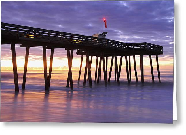 Ocean City Sunrise Greeting Card by Dan Myers