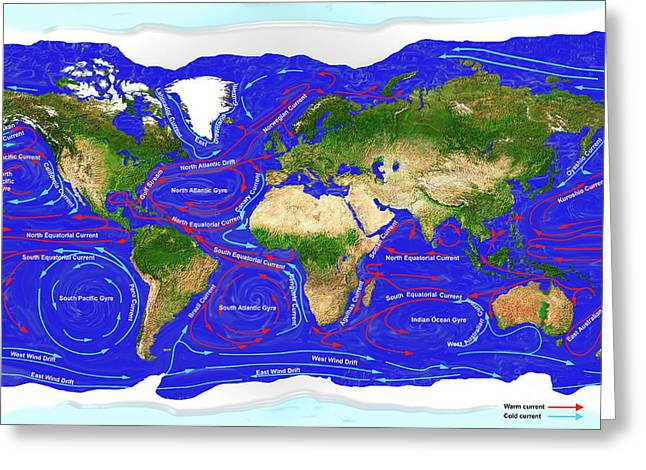 Ocean Currents Greeting Card