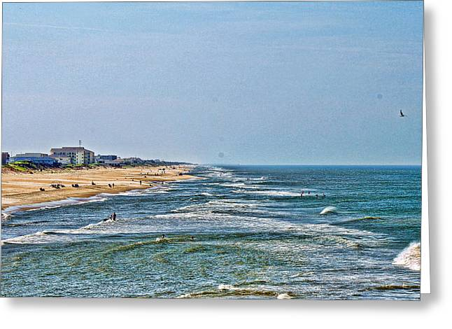 Ocean Front Greeting Card by Carolyn Ricks