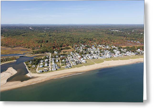 Ocean Park, Saco Greeting Card by Dave Cleaveland