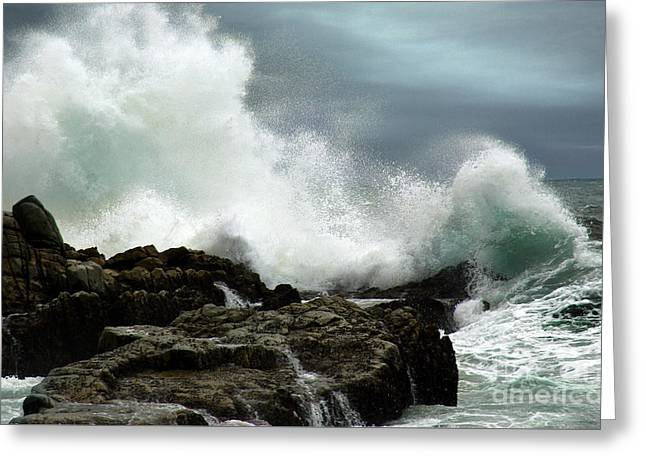 Greeting Card featuring the photograph Neptune's Rath by Glenda Wright