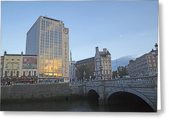 O'connell Bridge Dublin Ireland Greeting Card