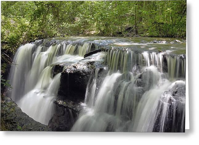 Odom Creek Waterfall Georgia Greeting Card by Charles Beeler