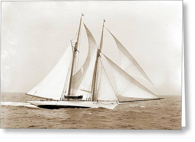 Oenone, Oenone Schooner, Yachts Greeting Card