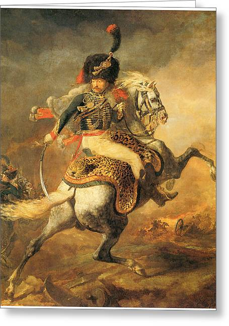 Officer Of The Hussars Greeting Card by Theodore Gericault