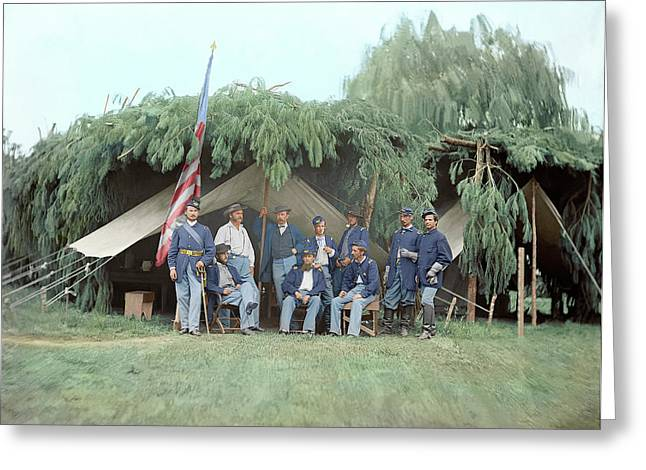 Officers Of 4th New Jersey Infantry Greeting Card by Stocktrek Images