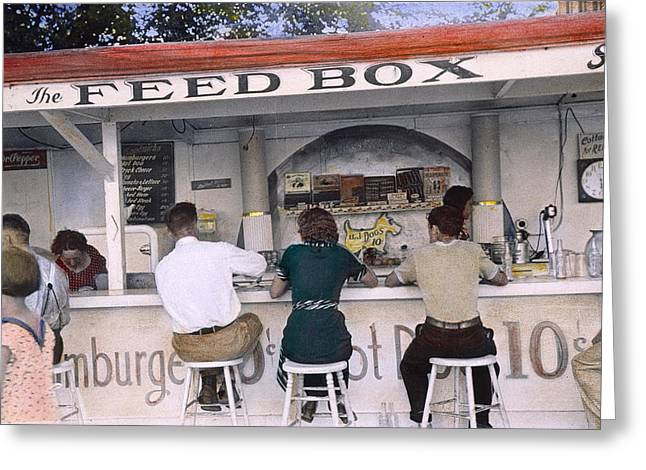 Ohio Luncheonette, 1938 Greeting Card