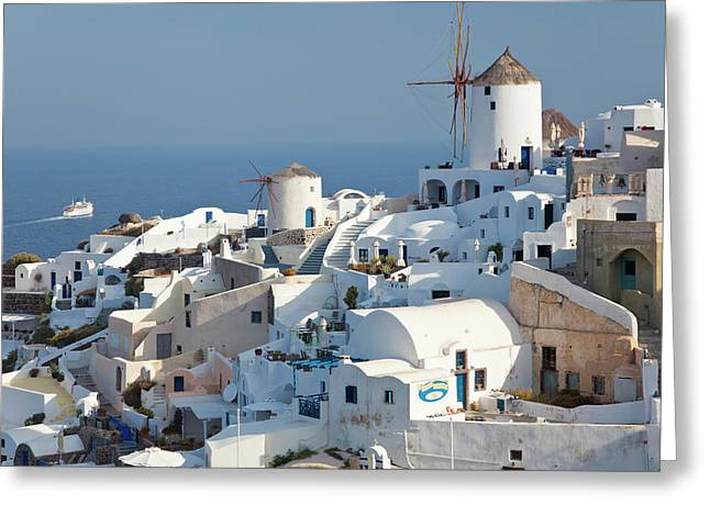Oia, Santorini, Cyclades Islands, Greece Greeting Card