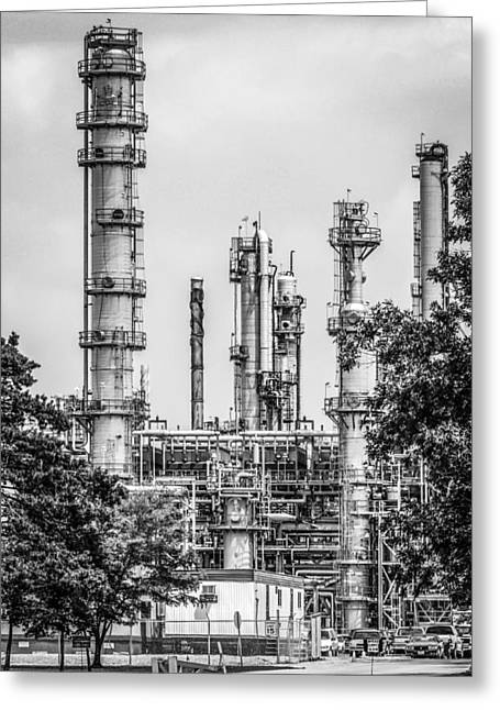 Oil Cracking Plant. Greeting Card by Chris Smith