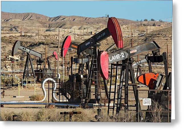 Oil Production Greeting Card