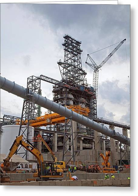 Oil Refinery Expansion Greeting Card by Jim West